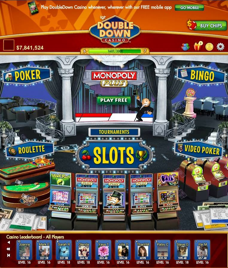 Free slot casino double down