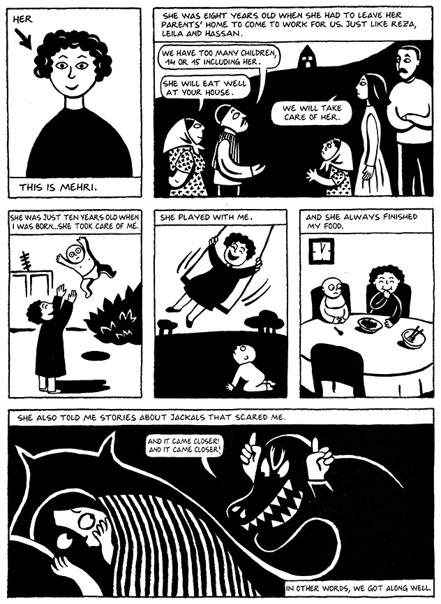 Read Chapter 5 - The Letter, page 32, from Marjane Satrapi's Persepolis 1 - The Story of a Childhood