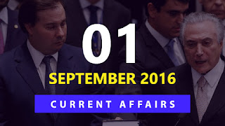 Current Affairs Quiz 1 September 2016