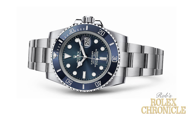 photoshopped photo of a Rolex Slate Blue Stainless Steel Sub Date Concept Model