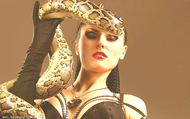 snake and girl