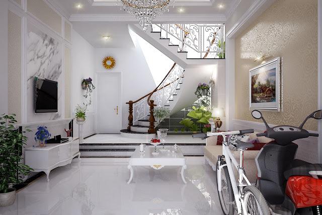 không gian ngôi nhà đẹp