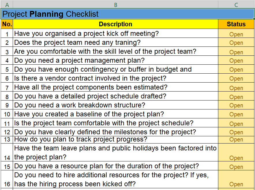 project task list template sample estimate sheet documents in excel