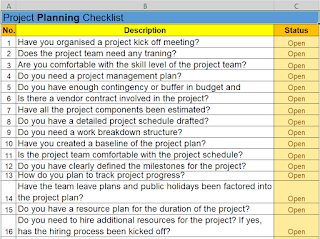 Project Planning Checklist