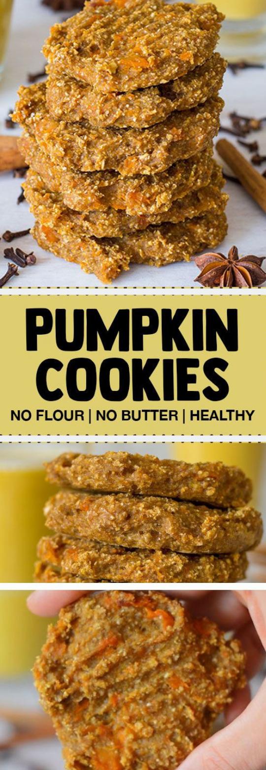 PUMPKIN SPICE OATMEAL COOKIES RECIPE #cookies #pumpkin