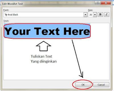 Cara Insert WordArt dan Shapes Pada Microsoft Word 2007