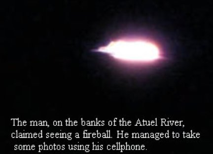 Old UFO Sighting At Atuel River Mendoza
