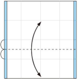Bước 4: Gấp tạo nét gấp tại vị trí đương đứt đoạn
