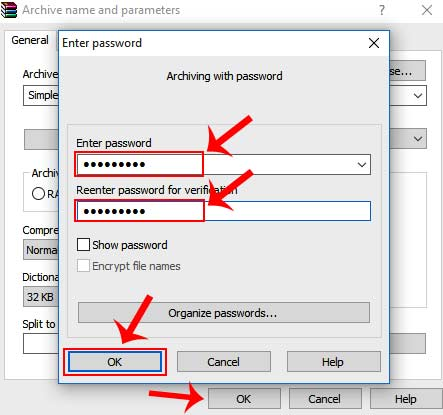 zip file ko password se protect kaise kare