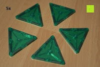 Dreieck grün: Playbees 100 Teile Magnetische Bausteine Set für 2D und 3D Form Konstruktionen, Regenbogenfarben Magnetspielzeug, Baukasten Magnetspiel, Magnetbausteine