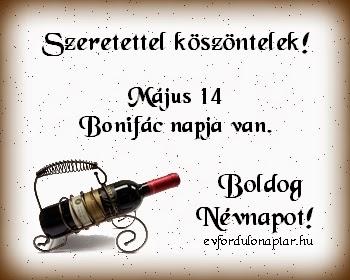 Május 14 - Bonifác névnap