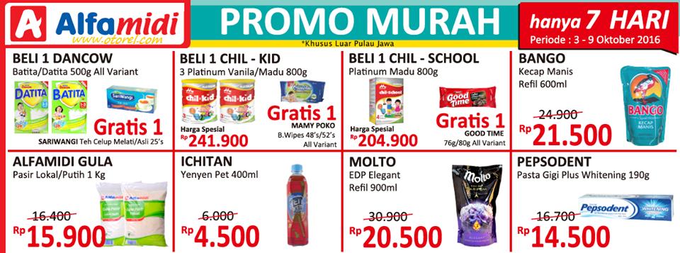 ALFAMIDI Promo Murah Hanya 7 Hari Periode 03 – 09 Oktober 2016
