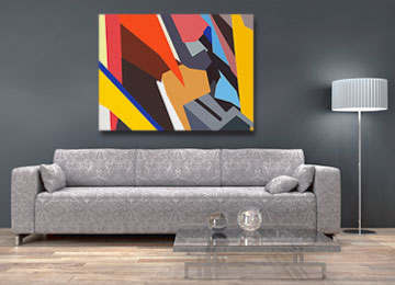 abstract painting, geometric painting, contemporary painting, digital painting, wall art, modern art, Sam Freek,