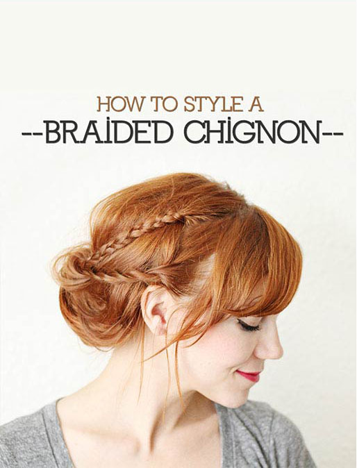 BRAIDED CHIGNON Steps
