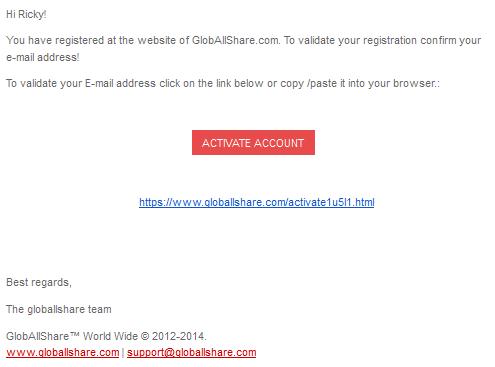 email aktivasi pendaftaran akun Gas 2014