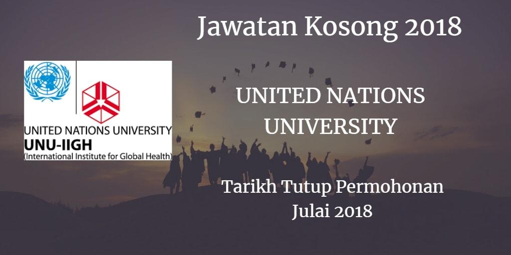 Jawatan Kosong UNU-IIGH Julai 2018