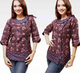 Baju Batik Atasan Modern Untuk Wanita Bertubuh Gendut