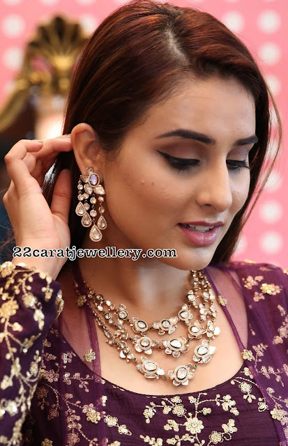 Nikitha Chaturvedi Polki Diamond Necklace
