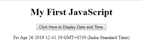 display date and time in javascript