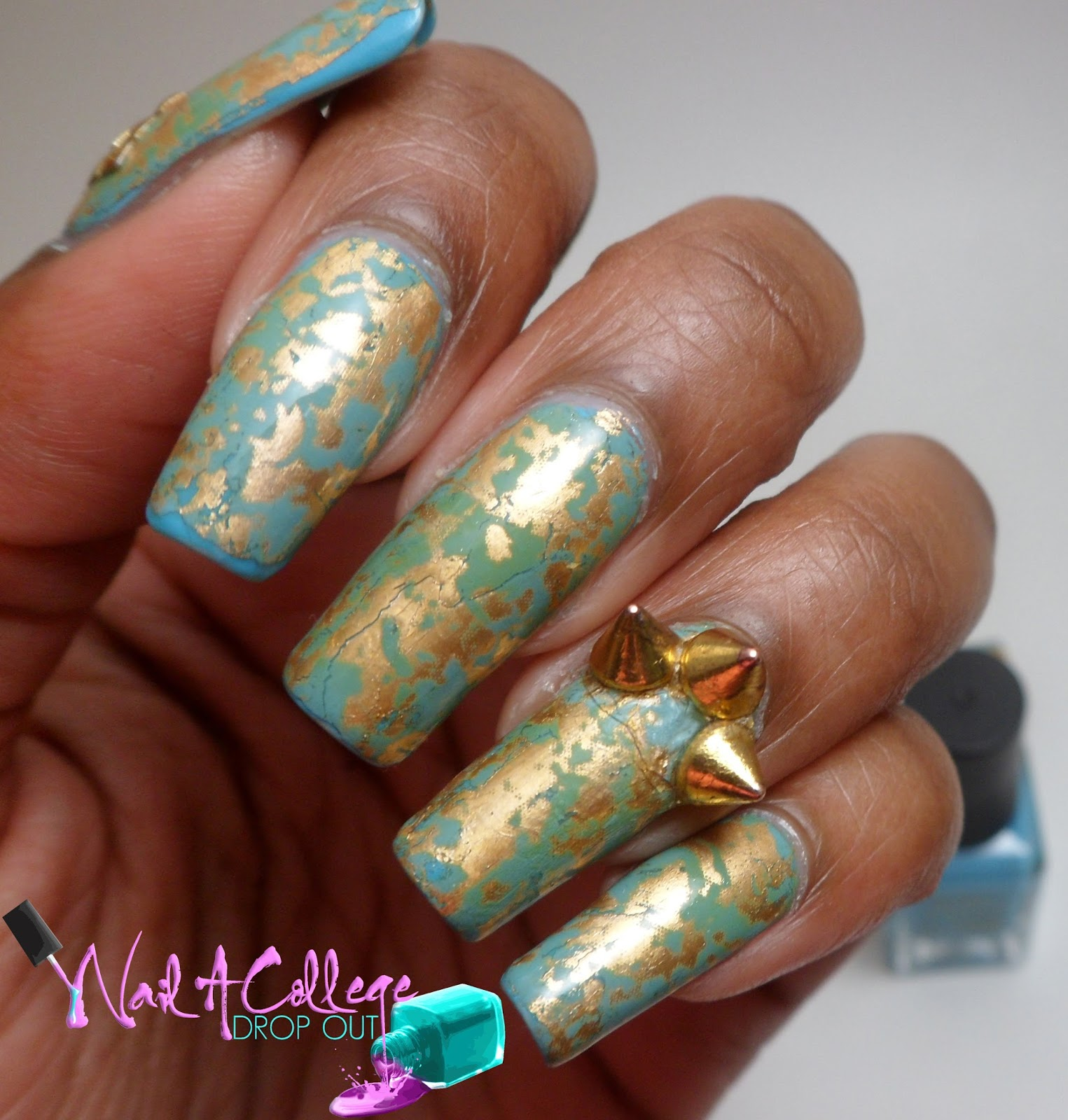 Nail A College Drop Out: More Spikes & Nail Art Foil Revisited
