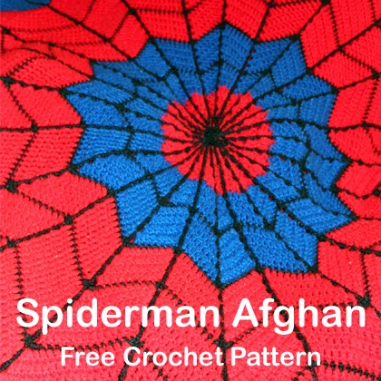 Spiderman Afghan Free Crochet Pattern