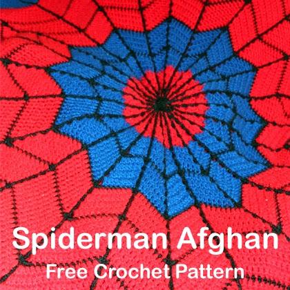 Spiderman Blanket Knitting Pattern : Crochet For Children: Spiderman Afghan Free Crochet Pattern