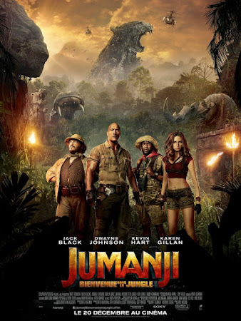 Poster Of Jumanji: Welcome to the Jungle 2017 Full Movie In Hindi Dubbed Download HD 100MB English Movie For Mobiles 3gp Mp4 HEVC Watch Online