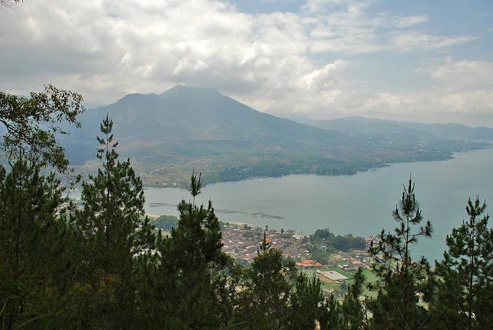 Panorámica del volcán Batur