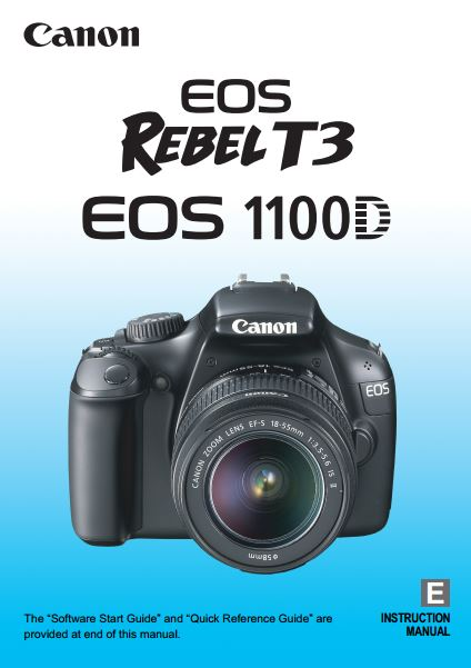Canon EOS 1100D / Rebel T3 PDF User Guide / Manual Downloads