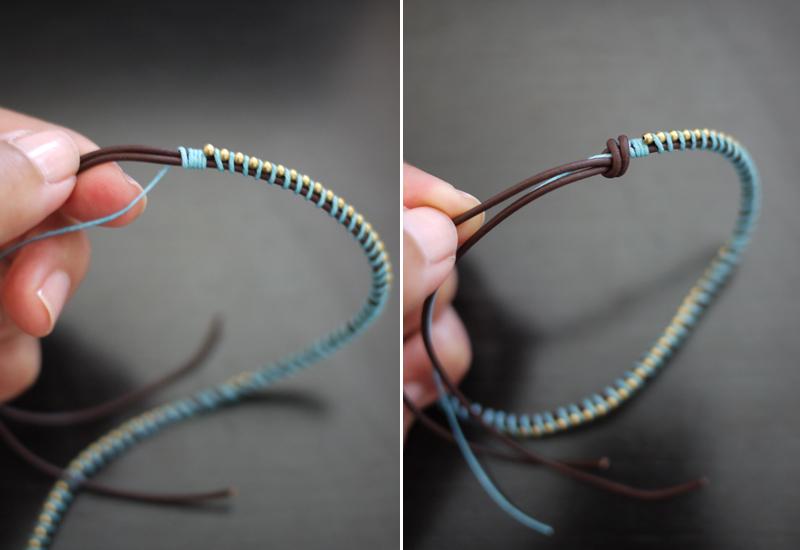instrucciones para hacer pulseras de hilo encerado