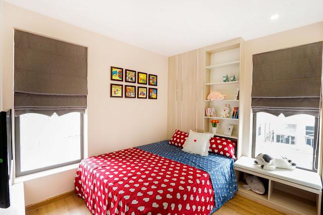 Phòng ngủ nhỏ với diện tích 9,6m2