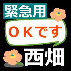 Emergency use.[nishihata]name Sticker