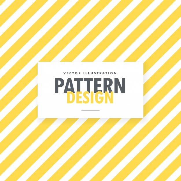 Yellow and white stripes background Free Vector