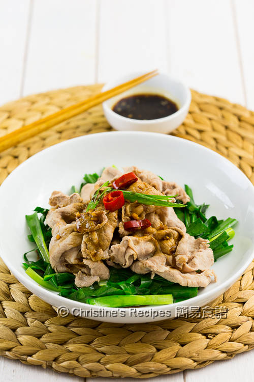 蒜泥醬肉片 Boiled Pork Slices with Garlic Sauce03