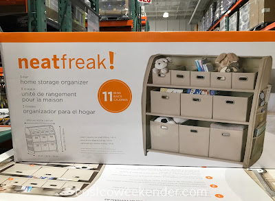 Keep your home organized and clear of clutter with the NeatFreak 3-tier Home Storage Organizer