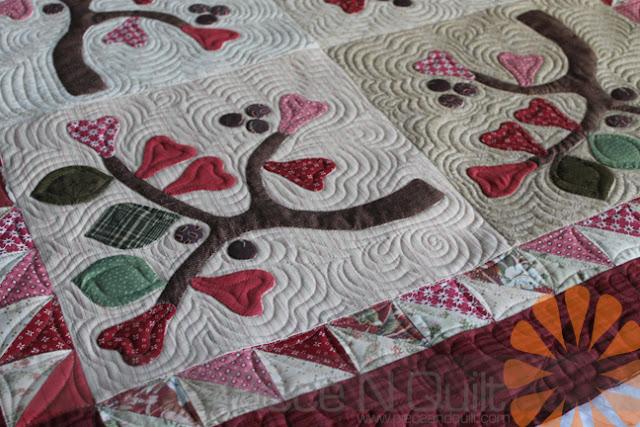 Piece n quilt applique quilt custom machine quilting by natalia