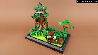 [MOC] Elf wraca do swojej bagiennej posiadłości