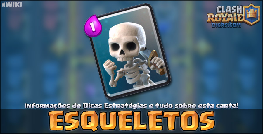 Carta do Esqueletos em Clash Royale