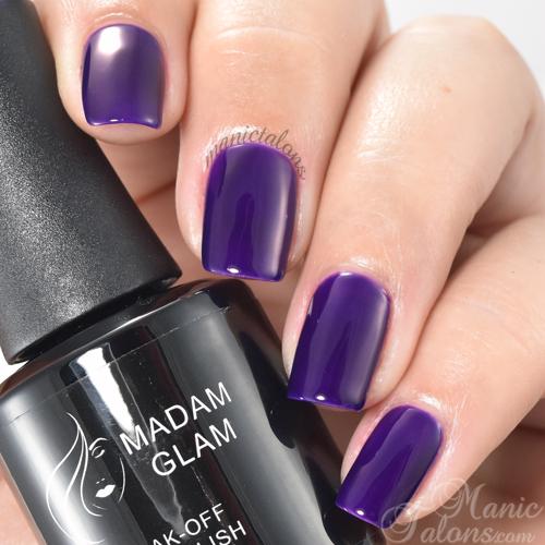 Madam Glam Gel Polish Dark Magenta Swatch