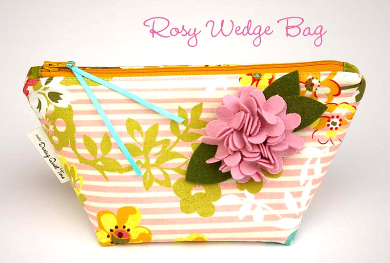 Fully lined, wedge shaped bag with gusset bottom, Bag Tutorial DIY