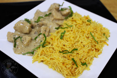 tasty dinner or lunch recipe for guests??here is a fusion biryani with chicken and spiced rice