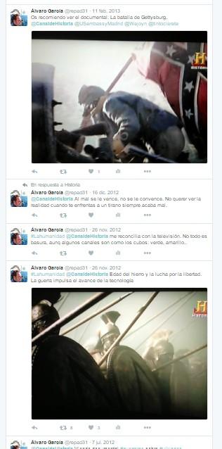 Canal Historia en Twitter - Documentales sobre Esparta y la Guerra de Secesión - Canal Historia - Historia - el troblogdita - ÁlvaroGP