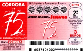 loteria nacional jueves 21 julio 2016