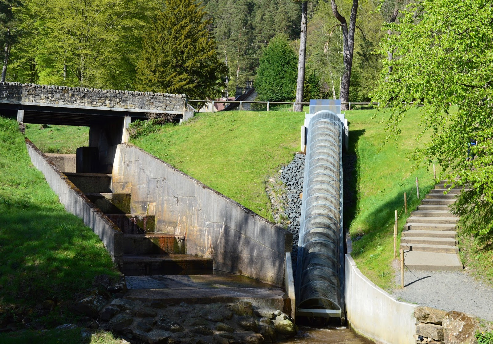The Labyrinth at Cragside - archimedes screw