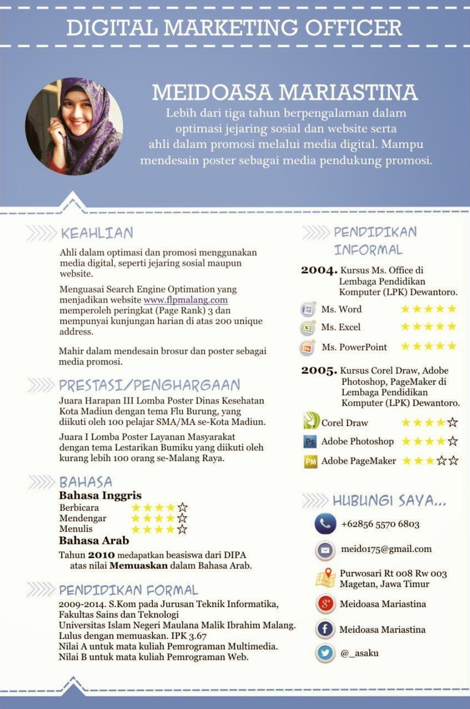 Format Curriculum Vitae Yang Baik Dan Menarik Sample Resume Service