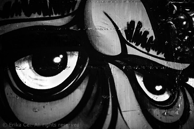 Melara, murales, occhi