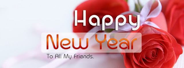 Happy New Year to All My Friends Cover Photo for facebook timeline and twitter image