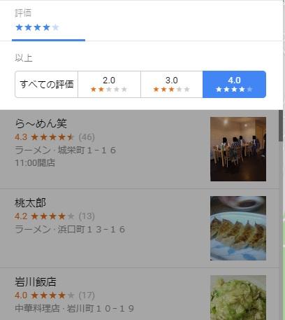 Googleマップで☆星の数、その他口コミでフィルターを使って便利に検索!Googleローカルガイドのススメ!