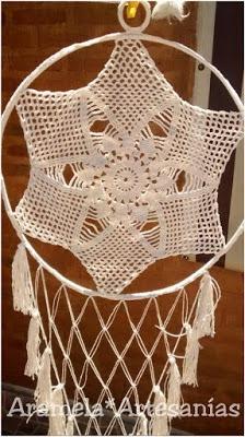 atrapasueños mandala a crochet 6