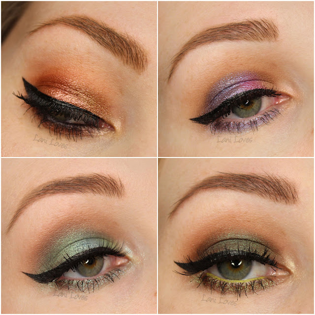Notoriously Morbid Eyeshadows - Head Key, Eye of the Tiger, Plant, Give the Devil His Due & Skunk Ape Swatches & Review